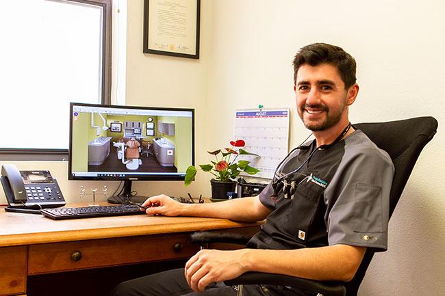 Dr. John Fonseca in His Office - Friendly Dentist in Santa Fe, NM - Fonseca Dentistry